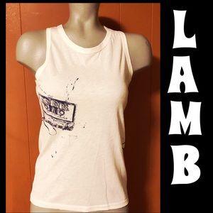 L.A.M.B. NWT white Tank Fall 2005 collection L